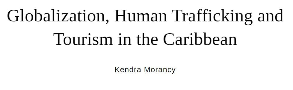 Globalization, Human Trafficking and Tourism in the Caribbean